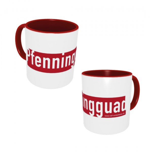 Winkelbeiner Pfenningguad Keramik Tasse