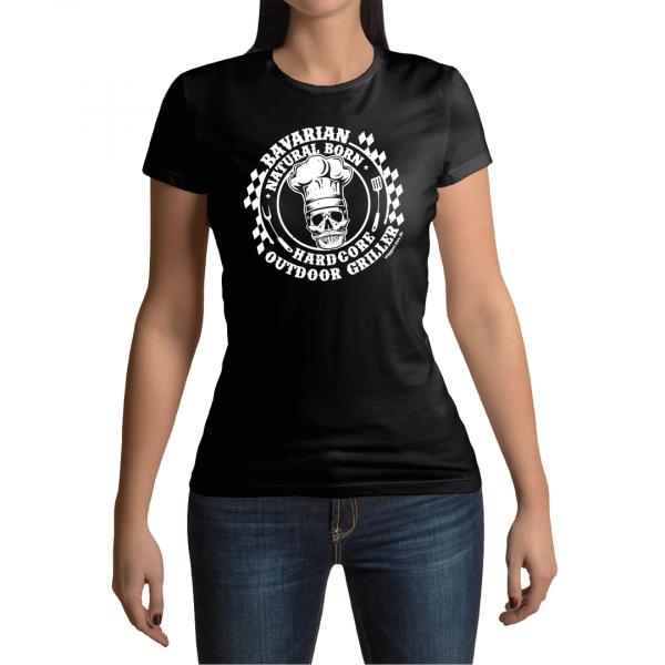Bavarian Hardcore Griller Damen T-Shirt Wiggerl