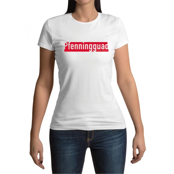 Pfenningguad Winkelbeiner T-Shirt Weiss Damen La Shirtz