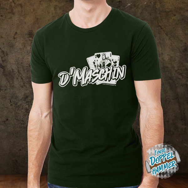 "DOPPELHAMMERs ""DMASCHIN"" Shirt BOTTLE GREEN"