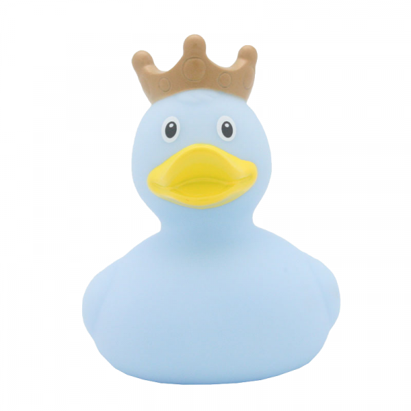 Hellblaue Ente mit Krone 1