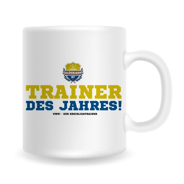 """UWE! Tasse """"Trainer des Jahres"""""""