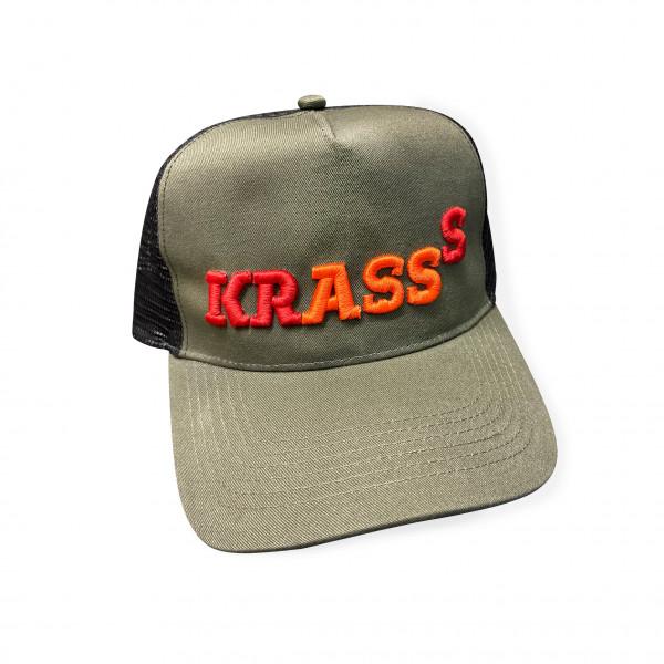 """Snpback mit 3D Bestickung """"KRASSS"""""""