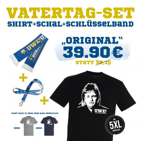 "UWE! Vatertagsset ""ORIGINAL"" (Shirt+Schal+Schlüsselband)"
