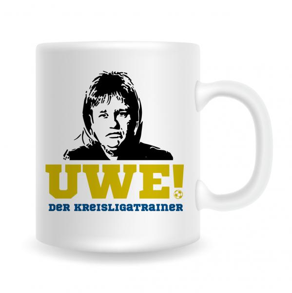 """UWE! Tasse """"Uwe! Der Kreisligatrainer"""""""